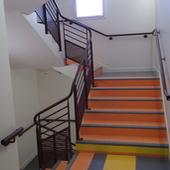 Garde-corps et main courante acier escalier intérieur