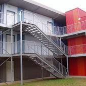 Escaliers droits et passerelles acier galvanisés