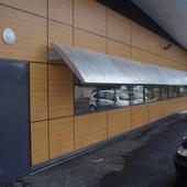 Cyclotron - CHU Nantes - Eiffage : Brise soleil en tole perforée galvanisée