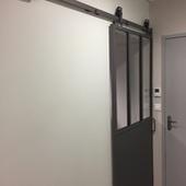 Porte acier style atelier