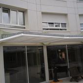 Repos de Procès - Mutualité Retraite - Aura Arch. : Brise soleil à lames horizontales