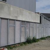 Ile de Nantes Ilôt A - SNI - Atelier Ph Madec : Fermeture en métal déployé galvanisé