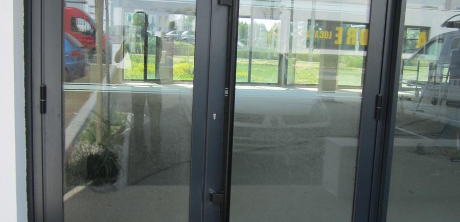 Hall entrée aluminium 3 vantaux