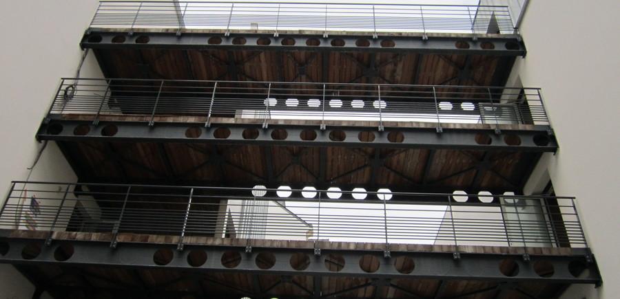 Moulin - Bati Nantes - Cetrac : Passerelle métallique résistante au feu 1 heure