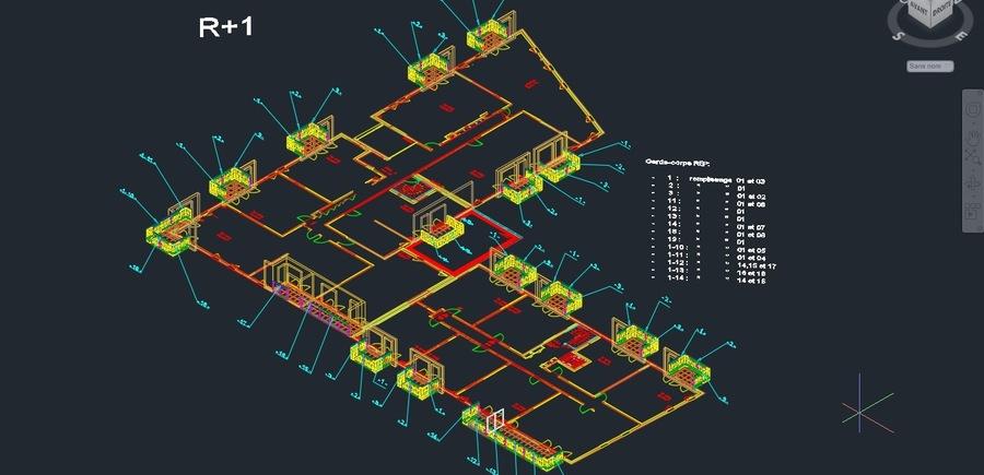 City Side - COGEDIM - UNITE Architecture : Conception et Intégration des Garde-Corps dans le modèle 3D