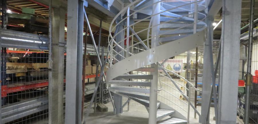 Escalier hélicoïdal acier
